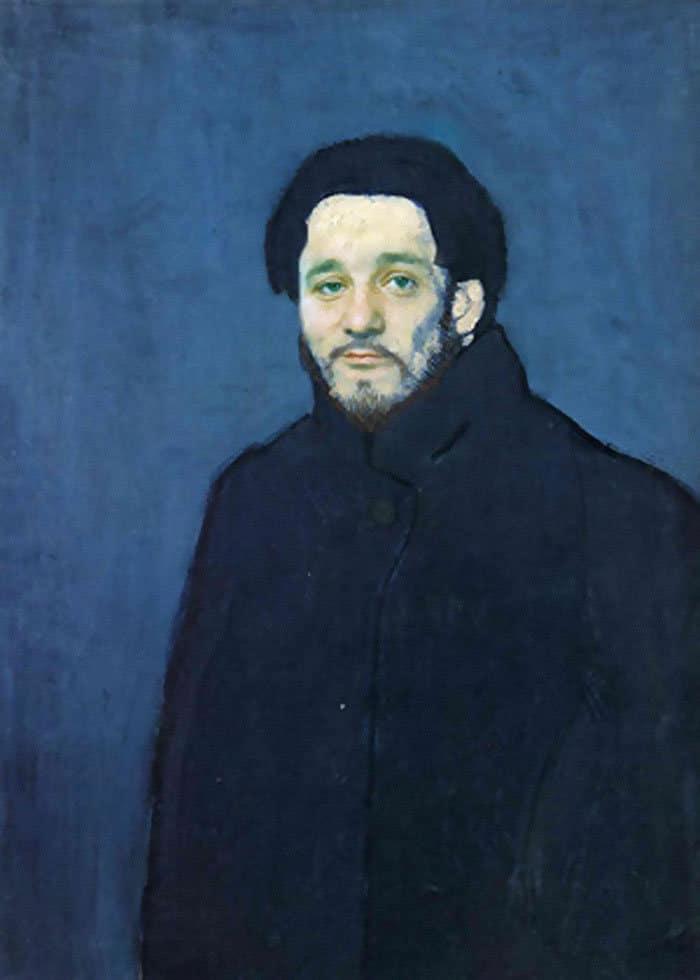 Artista reimagina pinturas icônicas com o rosto de Bill Murray 13