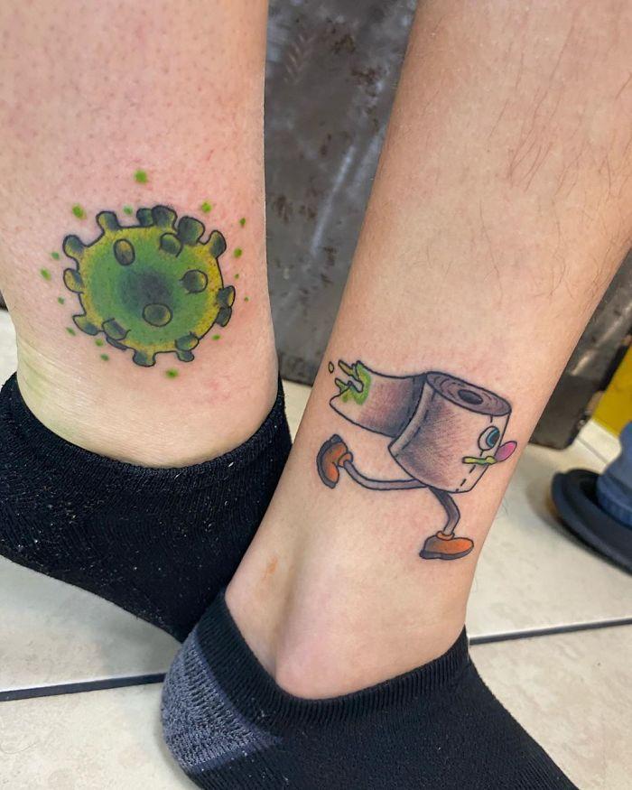 As pessoas estão fazendo tatuagens Covid-19 e aqui estão 40 das melhores 2
