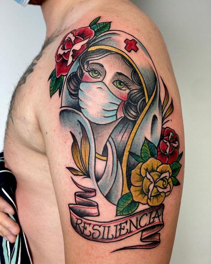 As pessoas estão fazendo tatuagens Covid-19 e aqui estão 40 das melhores 16