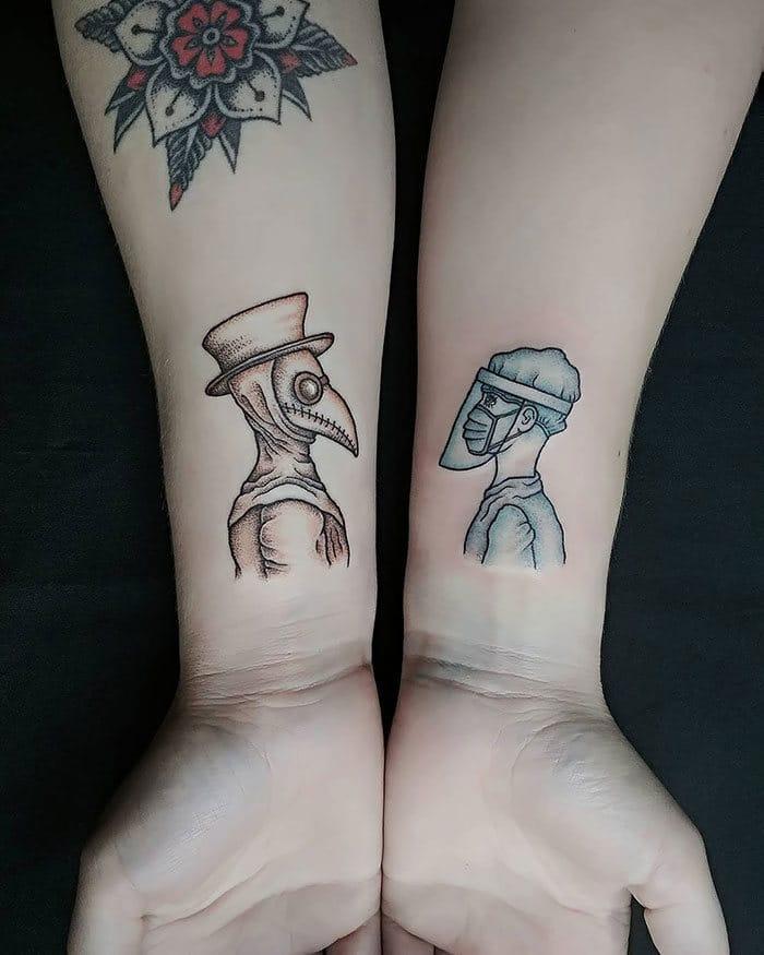 As pessoas estão fazendo tatuagens Covid-19 e aqui estão 40 das melhores 26