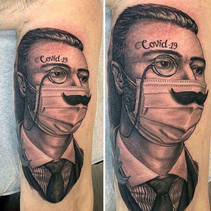 As pessoas estão fazendo tatuagens Covid-19 e aqui estão 40 das melhores 37