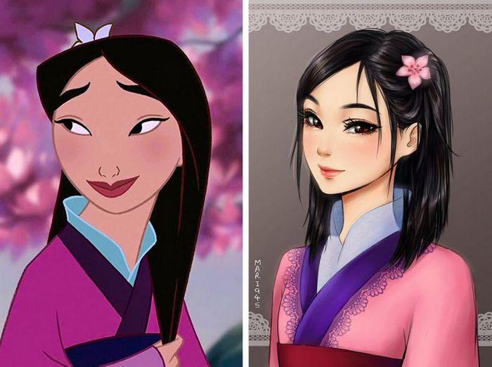 Como seriam algumas personagens da Disney se fossem animes (22 fotos) 2
