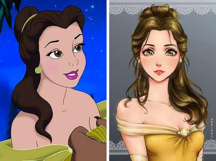 Como seriam algumas personagens da Disney se fossem animes (22 fotos) 5