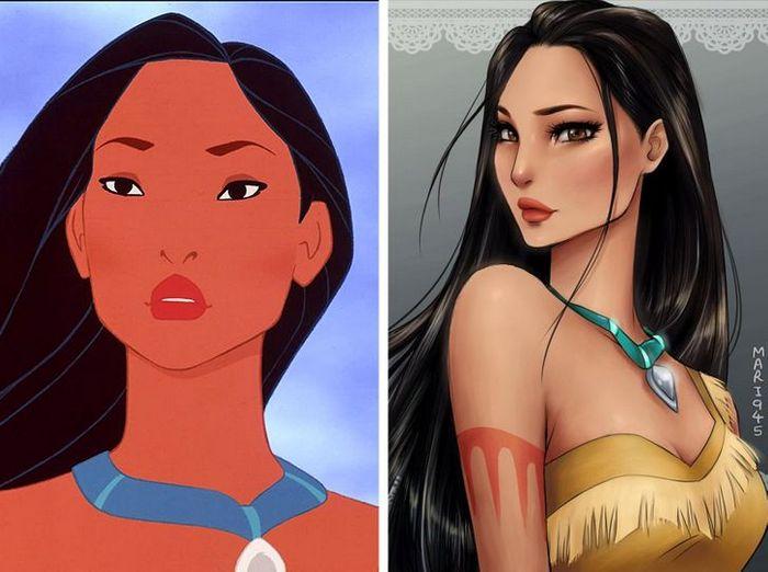 Como seriam algumas personagens da Disney se fossem animes (22 fotos) 7