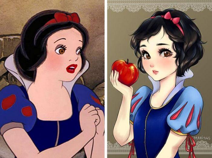 Como seriam algumas personagens da Disney se fossem animes (22 fotos) 8