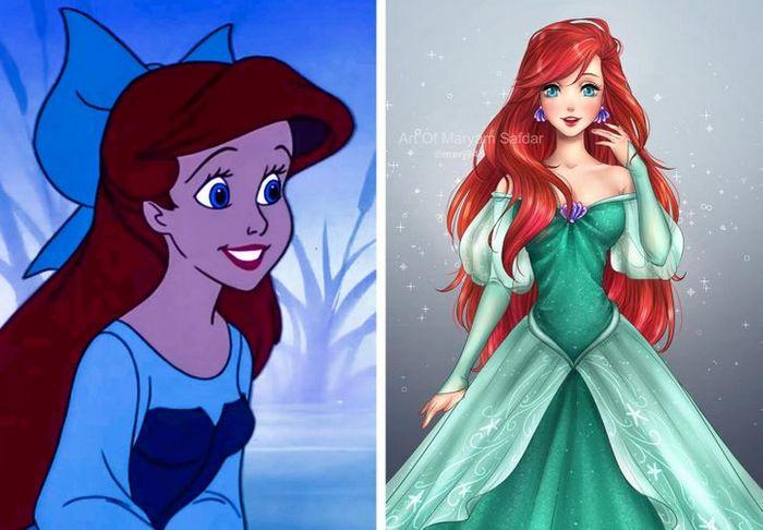 Como seriam algumas personagens da Disney se fossem animes (22 fotos) 19