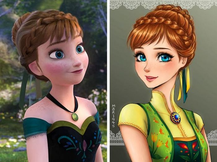 Como seriam algumas personagens da Disney se fossem animes (22 fotos) 20