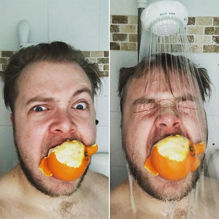 Existe uma comunidade online feita para pessoas que gostam de tomar banho de laranjas 5