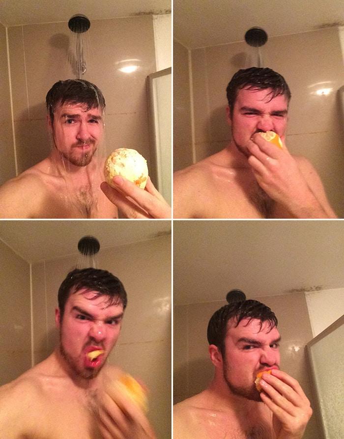 Existe uma comunidade online feita para pessoas que gostam de tomar banho de laranjas 6