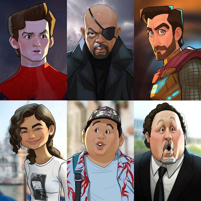 Este artista pode transformar nossos personagens e celebridades mais amados em um desenho animado (27 fotos) 20
