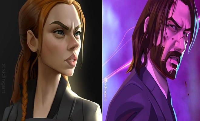 Este artista pode transformar nossos personagens e celebridades mais amados em um desenho animado (27 fotos) 1