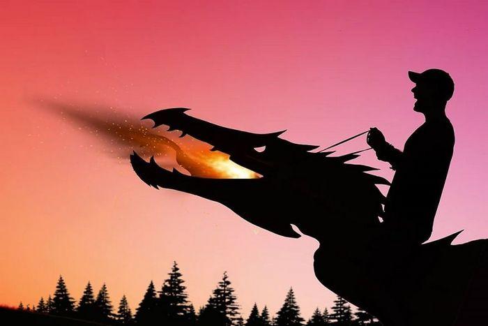 Este artista recorta papelão para criar obras mágicas ao pôr do sol 14