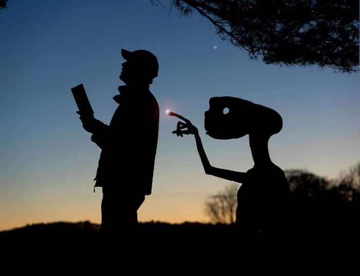 Este artista recorta papelão para criar obras mágicas ao pôr do sol 18