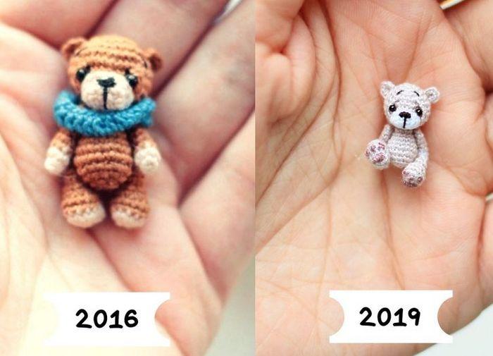 Este artista russa cria pequenos bichinhos de pelúcia de crochê que você pode levar a qualquer lugar (20 fotos) 4
