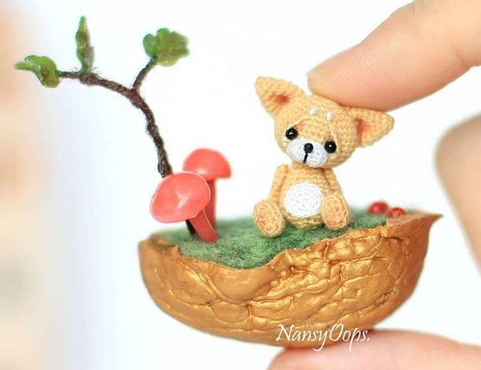 Este artista russa cria pequenos bichinhos de pelúcia de crochê que você pode levar a qualquer lugar (20 fotos) 12