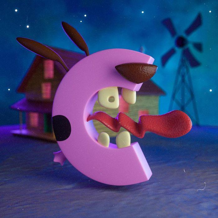 Ilustrador criou um alfabeto inspirado em seus desenhos animados de infância 4