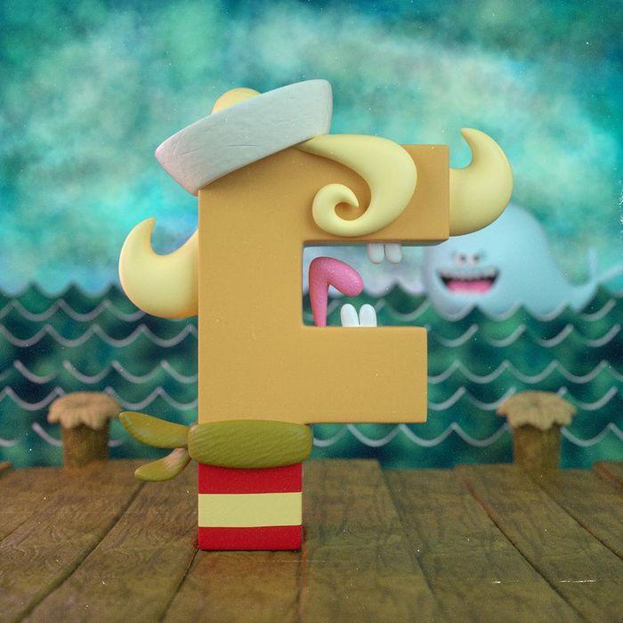 Ilustrador criou um alfabeto inspirado em seus desenhos animados de infância 7