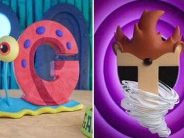 Ilustrador criou um alfabeto inspirado em seus desenhos animados de infância 9