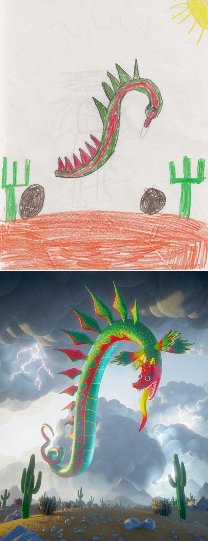 Projeto Monstro - Crianças desenham monstros e artistas recriam com sua arte 2