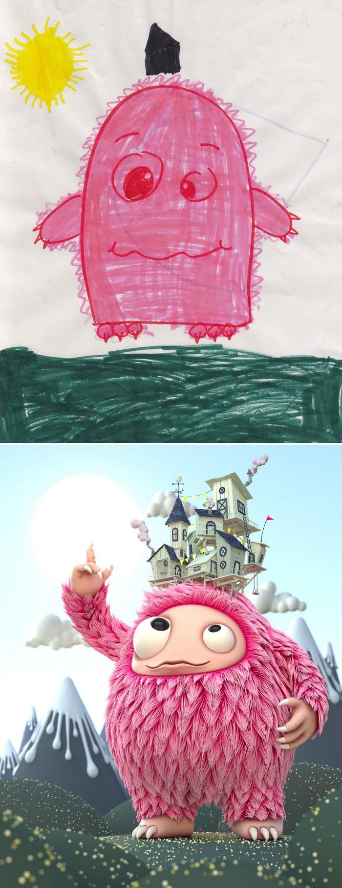 Projeto Monstro - Crianças desenham monstros e artistas recriam com sua arte 4