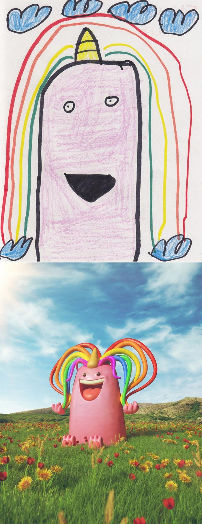 Projeto Monstro - Crianças desenham monstros e artistas recriam com sua arte 7