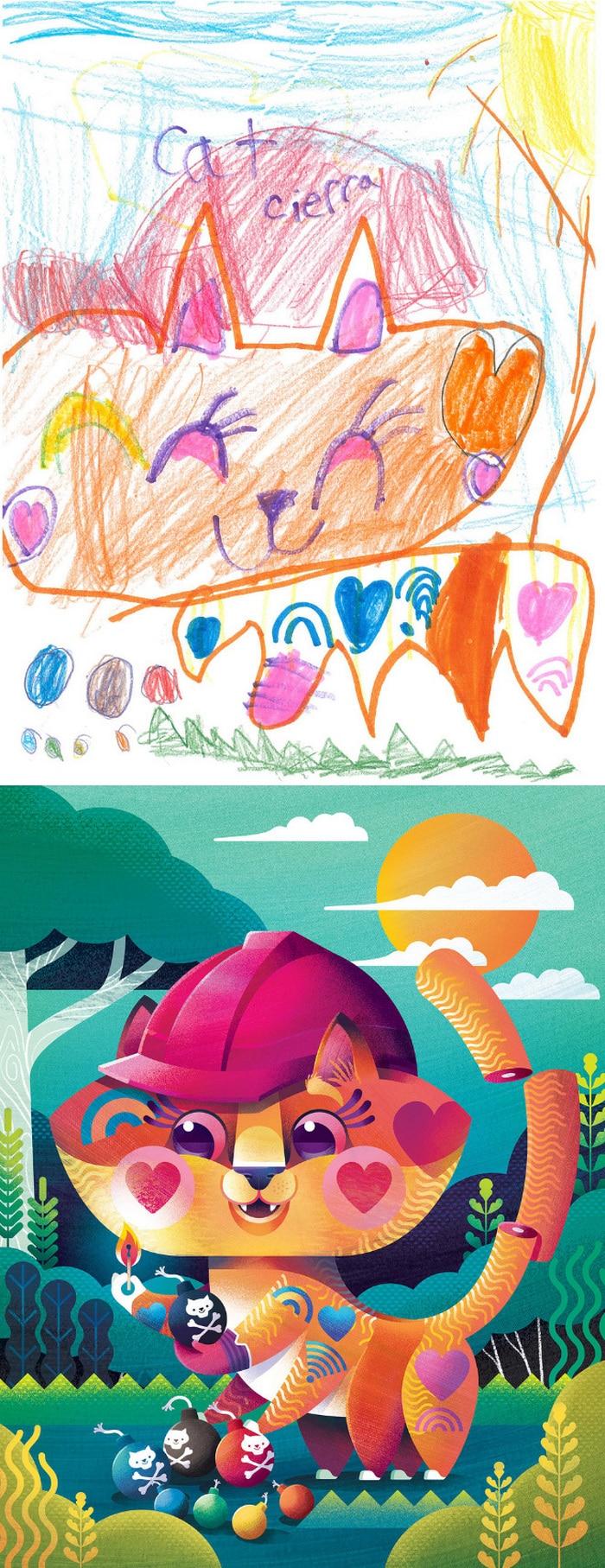 Projeto Monstro - Crianças desenham monstros e artistas recriam com sua arte 10