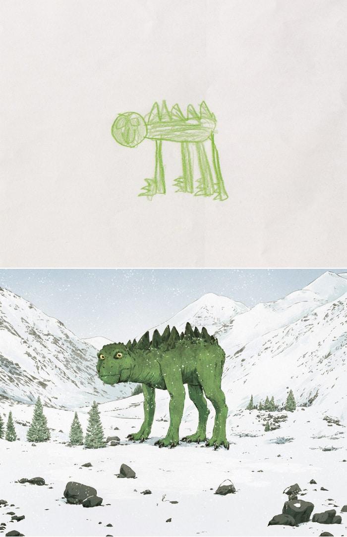 Projeto Monstro - Crianças desenham monstros e artistas recriam com sua arte 12