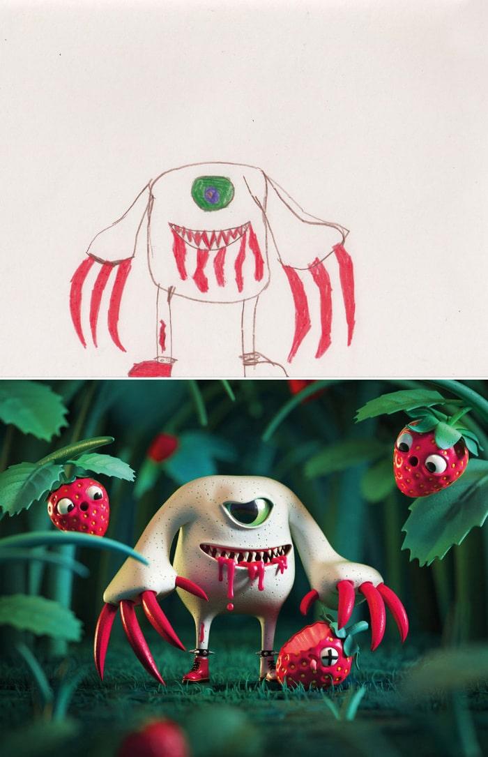 Projeto Monstro - Crianças desenham monstros e artistas recriam com sua arte 13