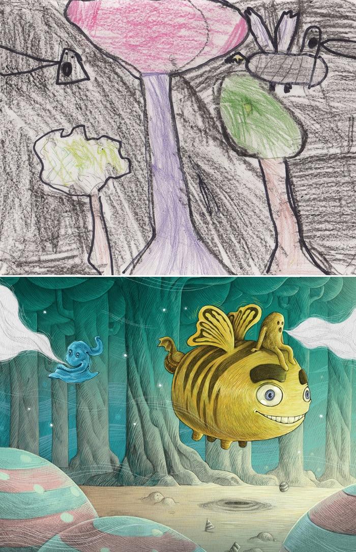 Projeto Monstro - Crianças desenham monstros e artistas recriam com sua arte 14