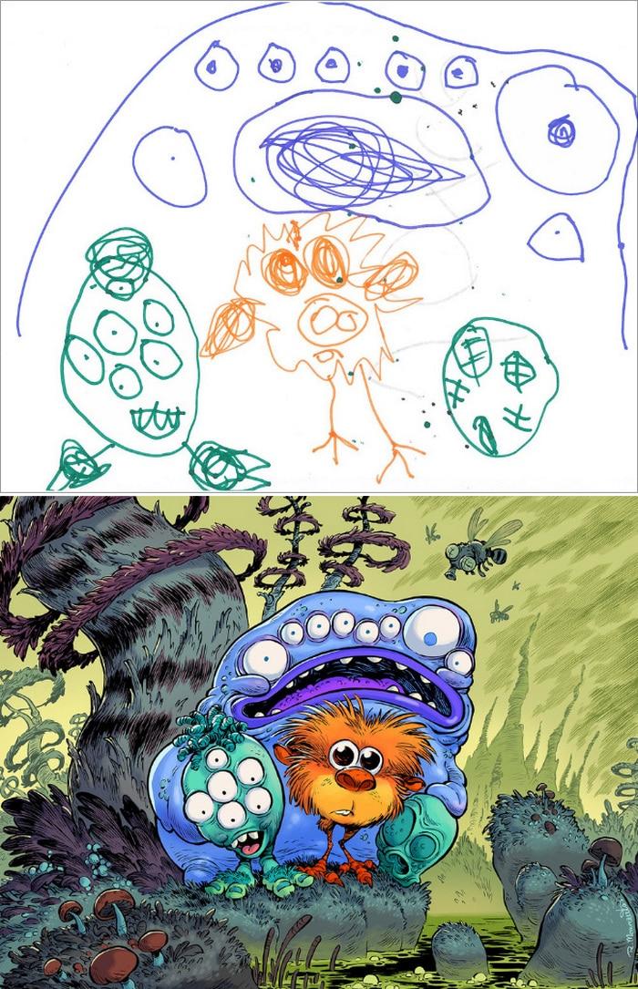 Projeto Monstro - Crianças desenham monstros e artistas recriam com sua arte 17