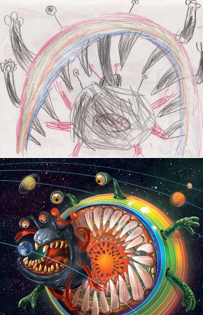Projeto Monstro - Crianças desenham monstros e artistas recriam com sua arte 18
