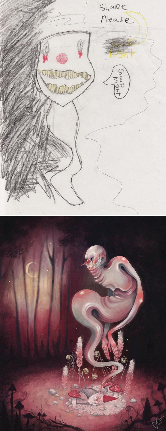 Projeto Monstro - Crianças desenham monstros e artistas recriam com sua arte 19