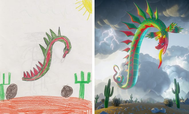 Projeto Monstro - Crianças desenham monstros e artistas recriam com sua arte 3