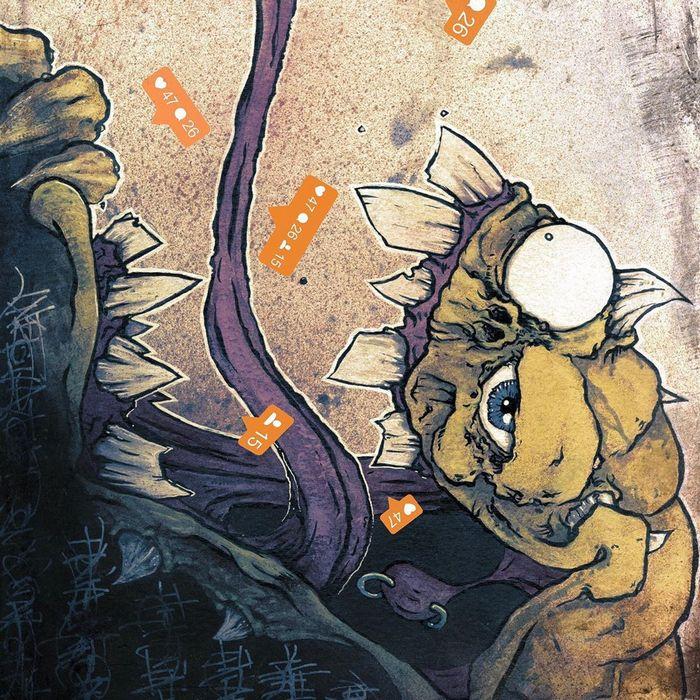 Um ilustrador adiciona monstros engraçados pela cidade 27