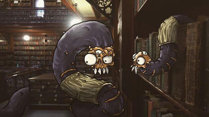 Um ilustrador adiciona monstros engraçados pela cidade 29