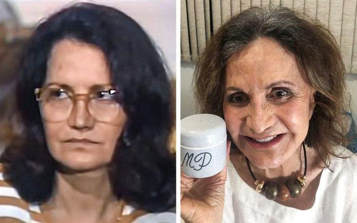 Antes e agora dos atores da novela Pantanal 11