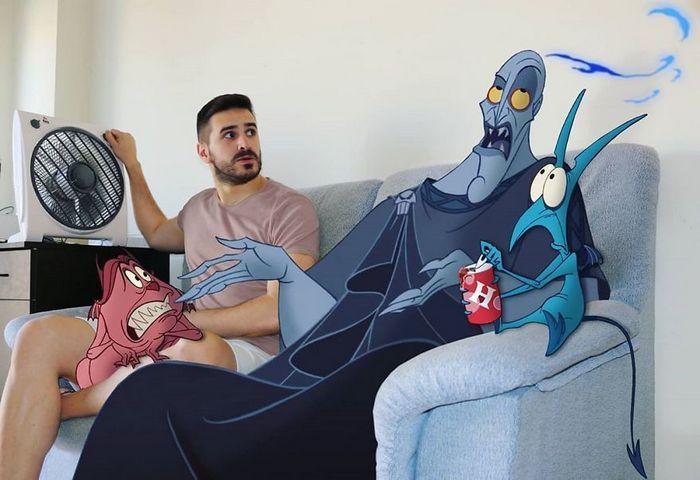 Artista adiciona personagens da Disney em suas fotos e o resultado é incrível 9