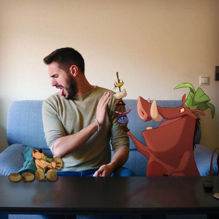 Artista adiciona personagens da Disney em suas fotos e o resultado é incrível 24