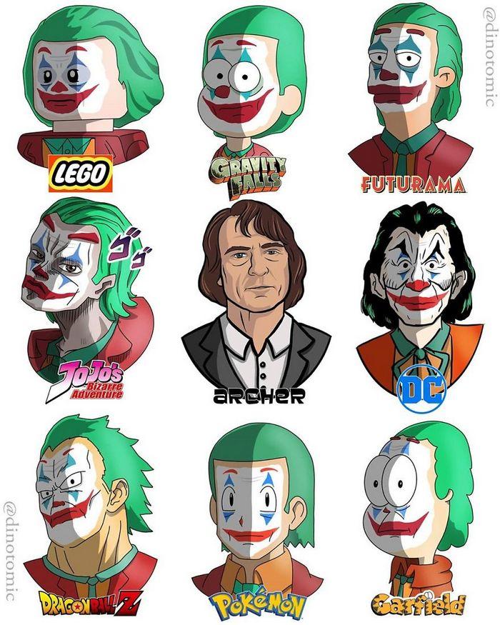 Artista mostra a aparência de vários personagens em diferentes universos de desenhos animados 3