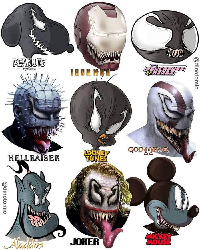 Artista mostra a aparência de vários personagens em diferentes universos de desenhos animados 6