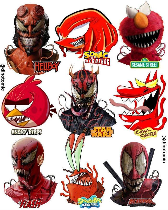 Artista mostra a aparência de vários personagens em diferentes universos de desenhos animados 12