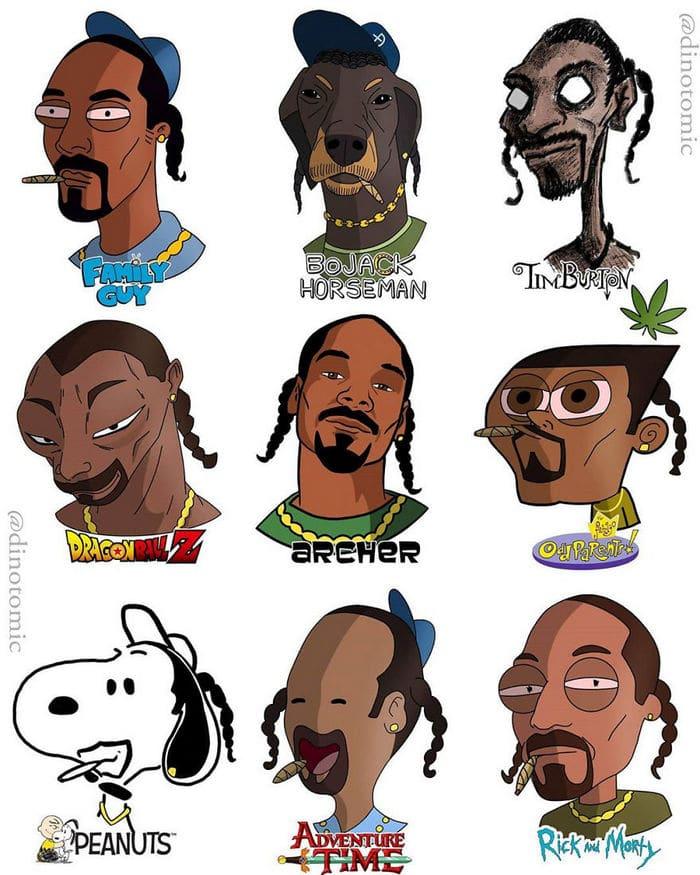 Artista mostra a aparência de vários personagens em diferentes universos de desenhos animados 15