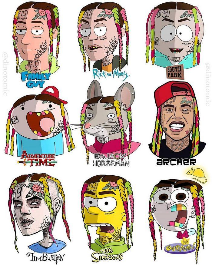 Artista mostra a aparência de vários personagens em diferentes universos de desenhos animados 17