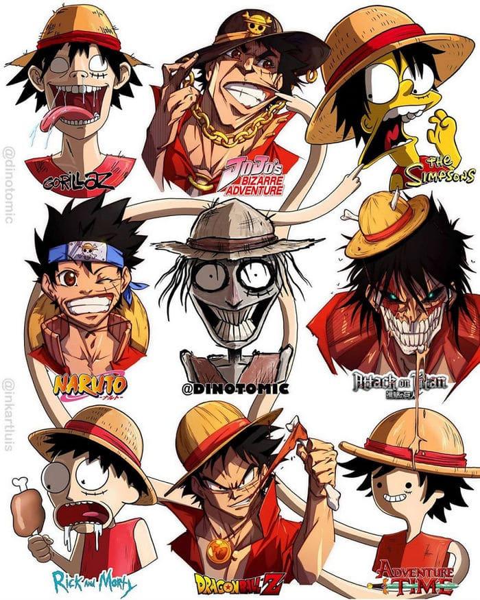 Artista mostra a aparência de vários personagens em diferentes universos de desenhos animados 23