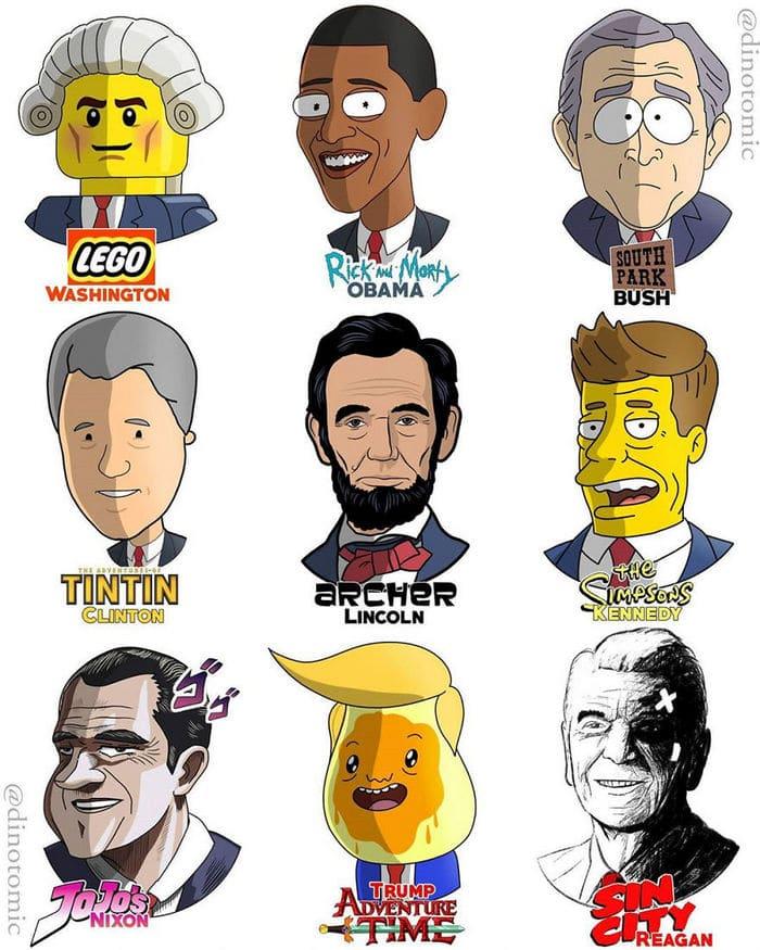 Artista mostra a aparência de vários personagens em diferentes universos de desenhos animados 25