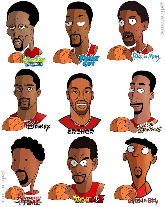 Artista mostra a aparência de vários personagens em diferentes universos de desenhos animados 26
