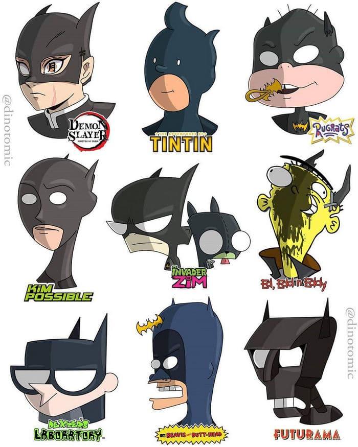 Artista mostra a aparência de vários personagens em diferentes universos de desenhos animados 27