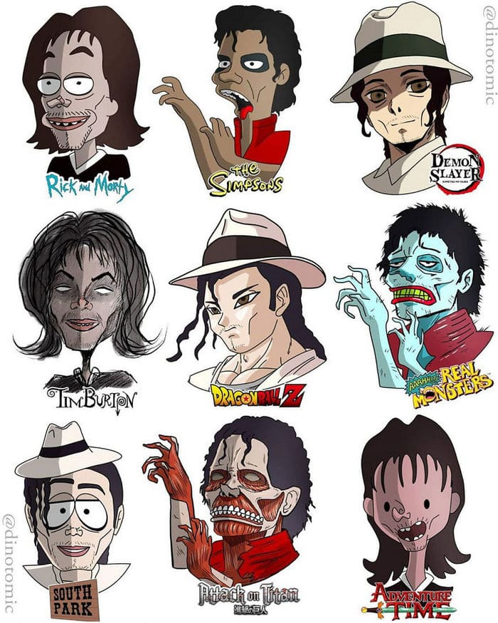 Artista mostra a aparência de vários personagens em diferentes universos de desenhos animados 28