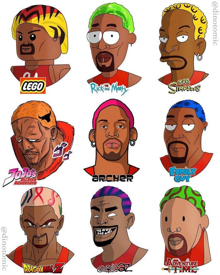 Artista mostra a aparência de vários personagens em diferentes universos de desenhos animados 29