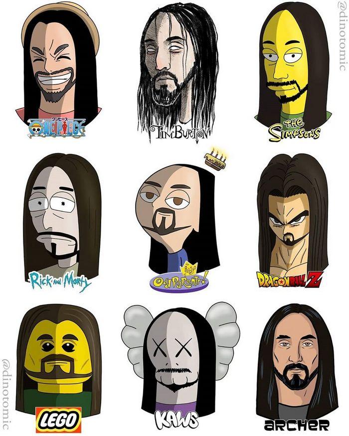 Artista mostra a aparência de vários personagens em diferentes universos de desenhos animados 30